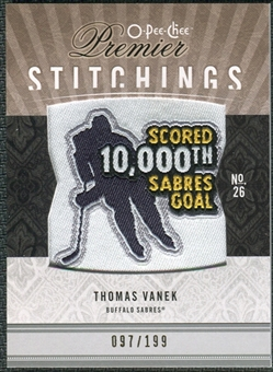 2009/10 Upper Deck OPC Premier Stitchings #PSTV Thomas Vanek /199