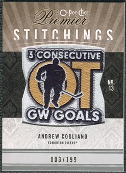 2009/10 Upper Deck OPC Premier Stitchings #PSAC Andrew Cogliano /199