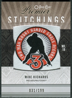2009/10 Upper Deck OPC Premier Stitchings #PSMR Mike Richards /199