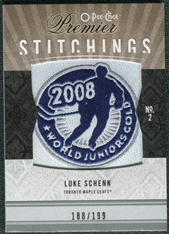 2009/10 Upper Deck OPC Premier Stitchings #PSLK Luke Schenn /199