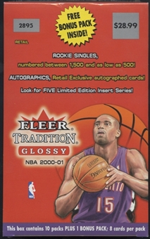 2000/01 Fleer Tradition Glossy Basketball Blaster Box