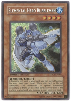 Yu-Gi-Oh Promo Single Elemental Hero Bubbleman Secret Rare EHC1