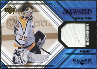2000/01 Upper Deck Black Diamond Game Gear #BTB Tom Barrasso Blocker