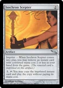 Magic the Gathering Mirrodin Single Isochron Scepter UNPLAYED (NM/MT)
