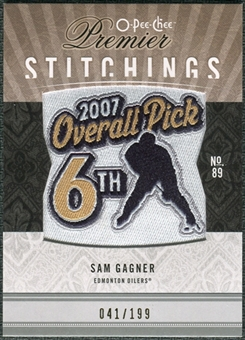 2009/10 Upper Deck OPC Premier Stitchings #PSSG Sam Gagner /199