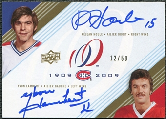 2008/09 Upper Deck Montreal Canadiens Centennial Signatures Dual #DUALHL Rejean Houle Yvon Lambert Auto 12/50
