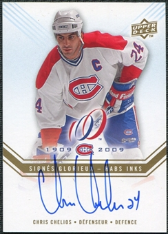 2008/09 Upper Deck Montreal Canadiens Centennial Habs INKS #HABSCH Chris Chelios SP Autograph