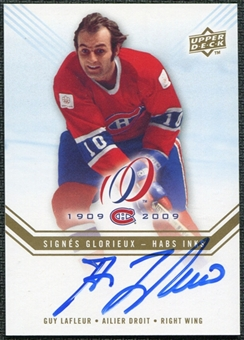2008/09 Upper Deck Montreal Canadiens Centennial Habs INKS #HABSGL Guy Lafleur Autograph