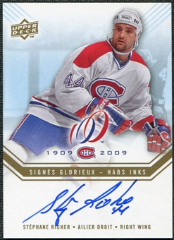 2008/09 Upper Deck Montreal Canadiens Centennial Habs INKS #HABSSR Stephane Richer Autograph