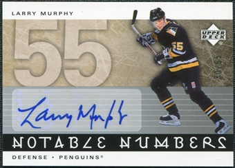 2005/06 Upper Deck Notable Numbers #NLM Larry Murphy Autograph /55