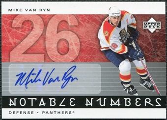 2005/06 Upper Deck Notable Numbers #NVR Mike Van Ryn Autograph /26