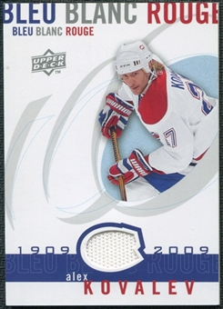 2008/09 Upper Deck Montreal Canadiens Centennial Le Bleu Blanc Rouge Jerseys #LBBRAK Alex Kovalev