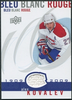 2008/09 Upper Deck Montreal Canadiens Centennial Le Bleu Blanc Rouge Jerseys #LBBRAL Alex Kovalev