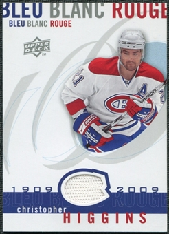 2008/09 Upper Deck Montreal Canadiens Centennial Le Bleu Blanc Rouge Jerseys #LBBRCH Christopher Higgins