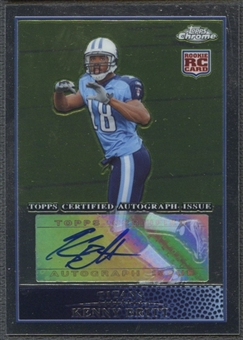 2009 Topps Chrome #TC135 Kenny Britt Rookie Auto