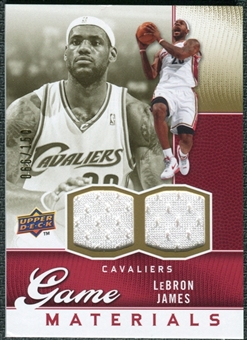 2009/10 Upper Deck Game Materials Gold #GJLJ LeBron James /150