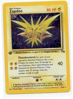 Pokemon Fossil 1st Edition Single Zapdos 15/62
