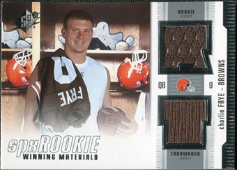 2005 Upper Deck SPx Rookie Winning Materials #RWMCF Charlie Frye