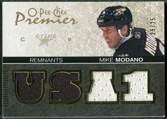 2007/08 Upper Deck OPC Premier Remnants Quads #PRMM Mike Modano /25