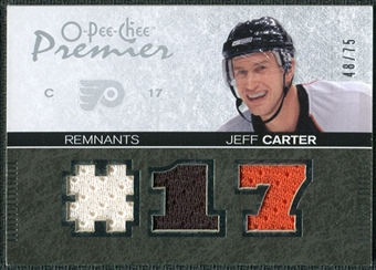 2007/08 Upper Deck OPC Premier Remnants Triples #PRJC Jeff Carter /75