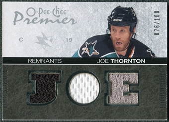 2007/08 Upper Deck OPC Premier Remnants Triples #PRJT Joe Thornton /100