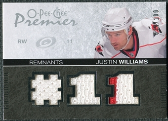 2007/08 Upper Deck OPC Premier Remnants Triples #PRJW Justin Williams /100