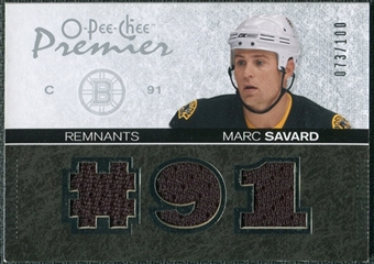 2007/08 Upper Deck OPC Premier Remnants Triples #PRMS Marc Savard /100