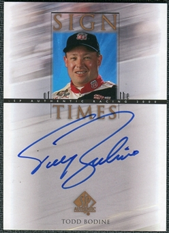 2000 Upper Deck SP Authentic Sign of the Times #TB Todd Bodine Autograph