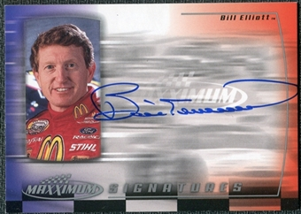 2000 Upper Deck Maxximum Signatures #BE Bill Elliott Autograph