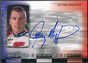 2000 Upper Deck Maxximum Signatures #JM Jeremy Mayfield Autograph