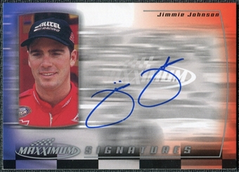 2000 Upper Deck Maxximum Signatures #JO Jimmie Johnson Autograph