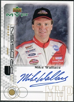 1999 Upper Deck ProSign #MWallH Mike Wallace Gold Autograph