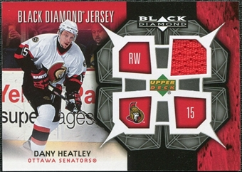 2007/08 Upper Deck Black Diamond Jerseys #BDJDH Dany Heatley SP