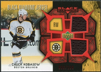 2007/08 Upper Deck Black Diamond Jerseys Ruby Dual #BDJCK Chuck Kobasew /100