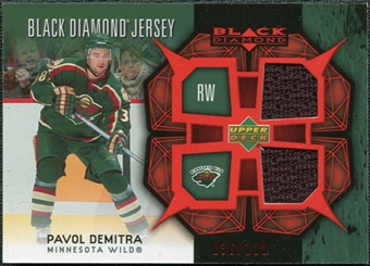 2007/08 Upper Deck Black Diamond Jerseys Ruby Dual #BDJDE Pavol Demitra /100