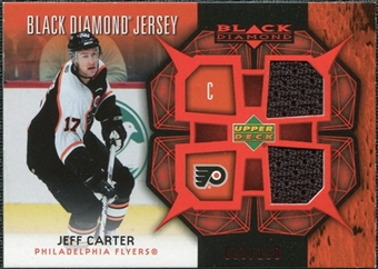 2007/08 Upper Deck Black Diamond Jerseys Ruby Dual #BDJJC Jeff Carter /100