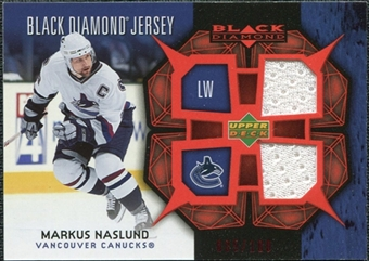 2007/08 Upper Deck Black Diamond Jerseys Ruby Dual #BDJMN Markus Naslund /100