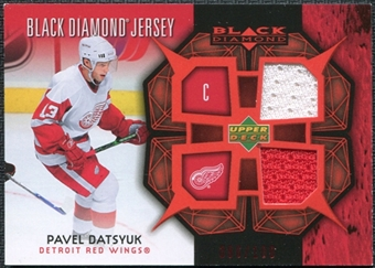 2007/08 Upper Deck Black Diamond Jerseys Ruby Dual #BDJPD Pavel Datsyuk /100