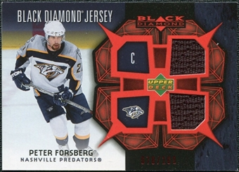 2007/08 Upper Deck Black Diamond Jerseys Ruby Dual #BDJPF Peter Forsberg /100