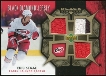 2007/08 Upper Deck Black Diamond Jerseys Gold Triple #BDJES Eric Staal 2/25