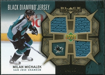 2007/08 Upper Deck Black Diamond Jerseys Gold Triple #BDJMM Milan Michalek /25
