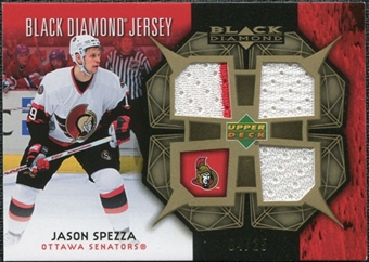 2007/08 Upper Deck Black Diamond Jerseys Gold Triple #BDJSP Jason Spezza /25