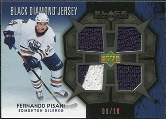 2007/08 Upper Deck Black Diamond Jerseys Black Quad #BDJFP Fernando Pisani 9/10