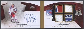2010/11 The Cup #ARGDS Derek Stepan Rookie Gear Patch Fight Strap Tag Auto #17/25