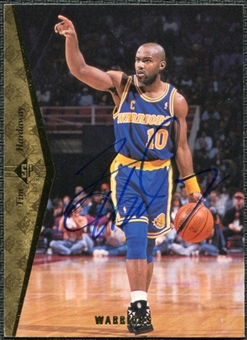 1997/98 Upper Deck SP Authentic BuyBack #11 Tim Hardaway 94-5 Autograph /126
