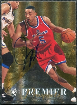 1997/98 Upper Deck SP Authentic BuyBack #14 Juwan Howard 94-5 Autograph /50