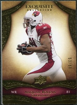 2009 Upper Deck Exquisite Collection #20 Anquan Boldin /80