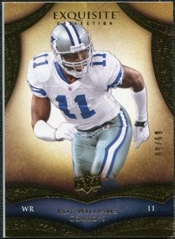 2009 Upper Deck Exquisite Collection #95 Roy Williams WR /80
