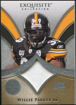 2009 Upper Deck Exquisite Collection Patch #PWI Willie Parker /75