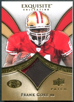 2009 Upper Deck Exquisite Collection Patch Gold #PFG Frank Gore 7/40